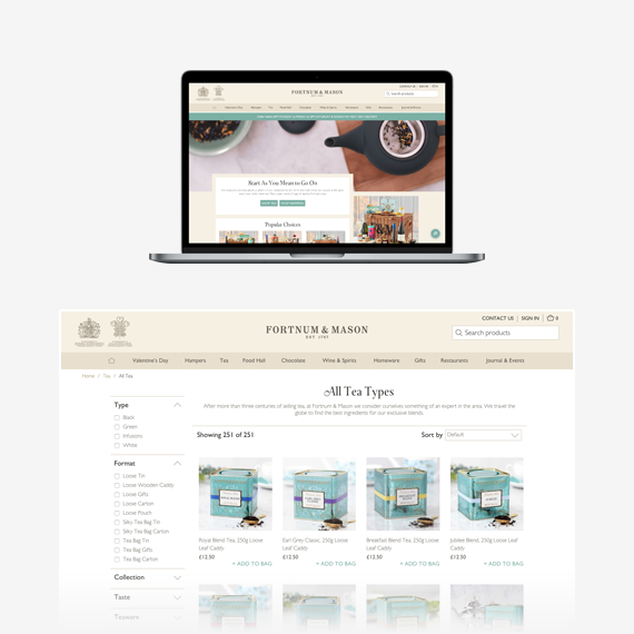 Fortnum and Mason Spree Commerce Success Story