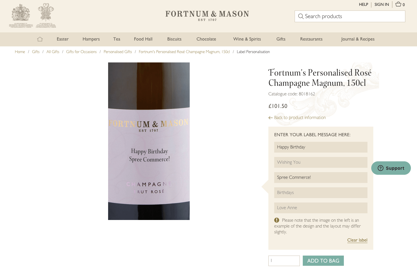 Fortnum and Mason and Spree Commerce Success Story