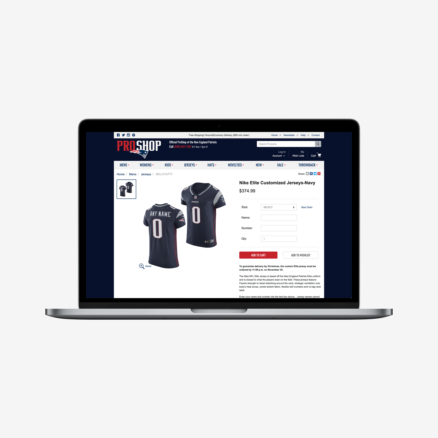 new england patriots fan merchandise online store built with spree commerce