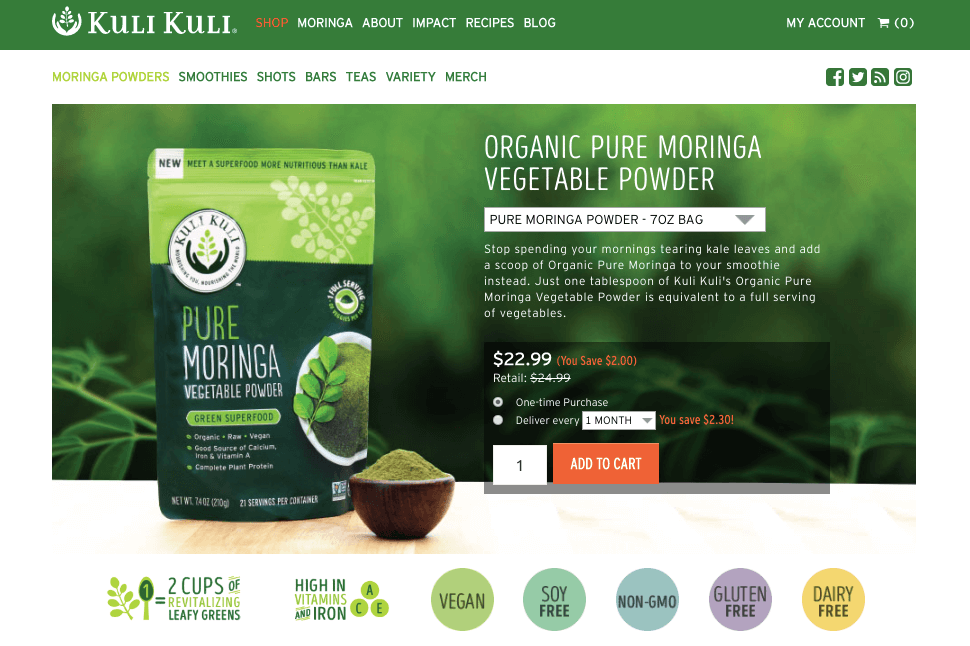 Kuli Kuli and Spree Commerce Success Story