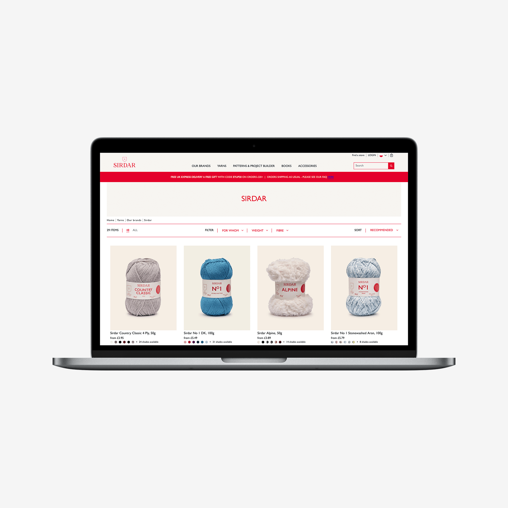 Sirdar and Spree Commerce Success Story