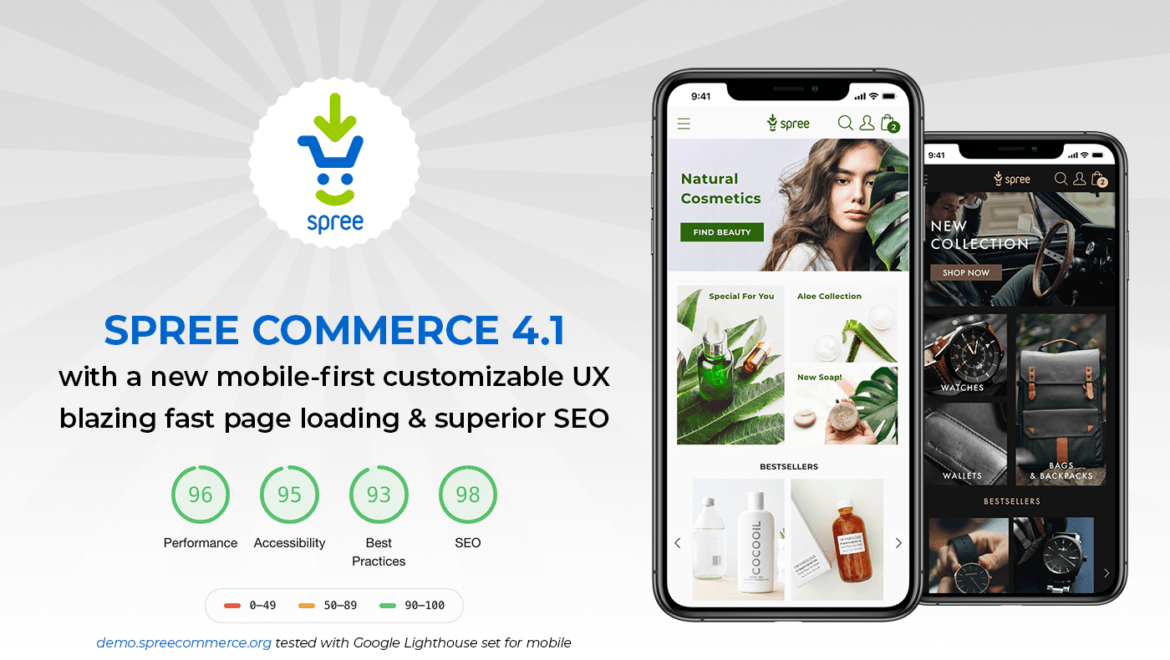 Spree 4.1 - blazing fast, mobile-first E-Commerce platform with superior UX and SEO