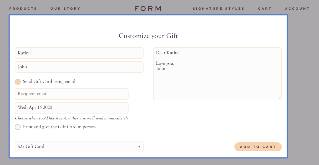 Form amazing features Spree Commerce
