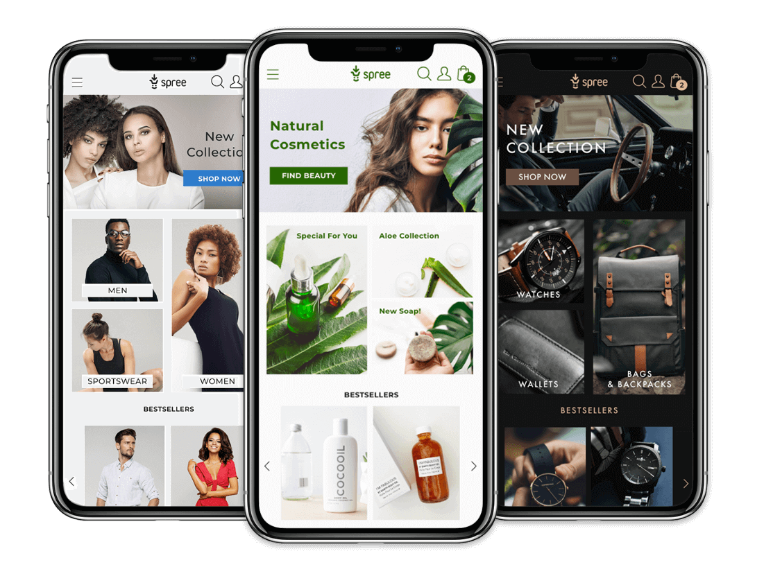 Spree mobile-first UX