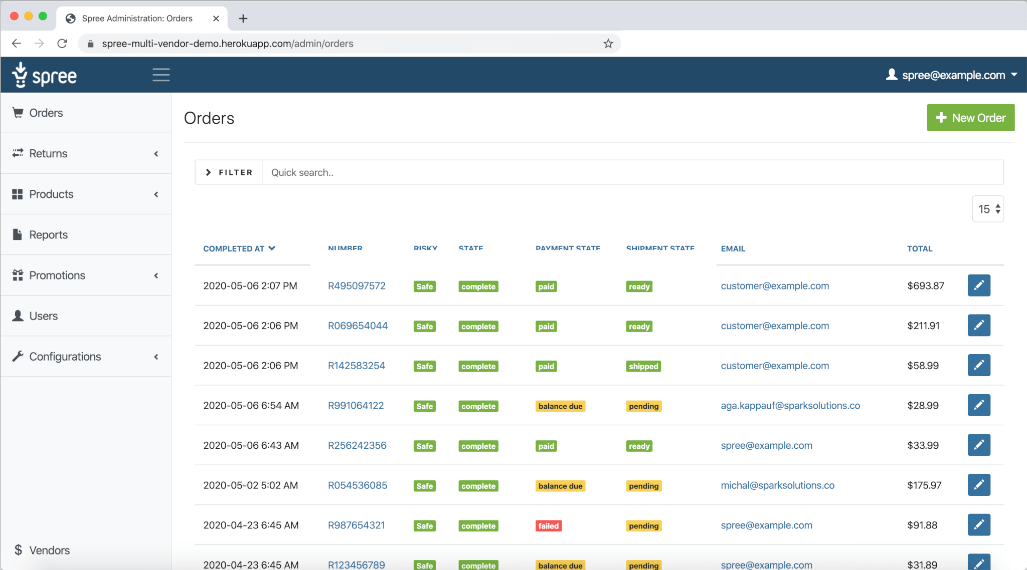 multi-vendor marketplace demo - vendor dashboard