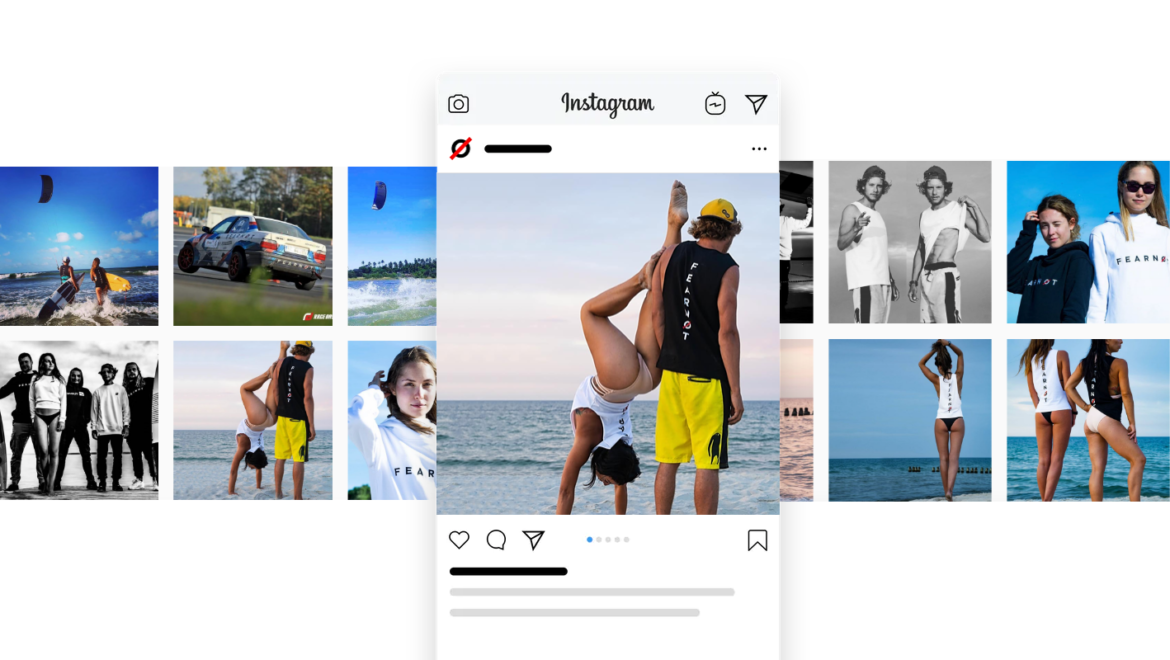 Instagram feed on a Spree Commerce website