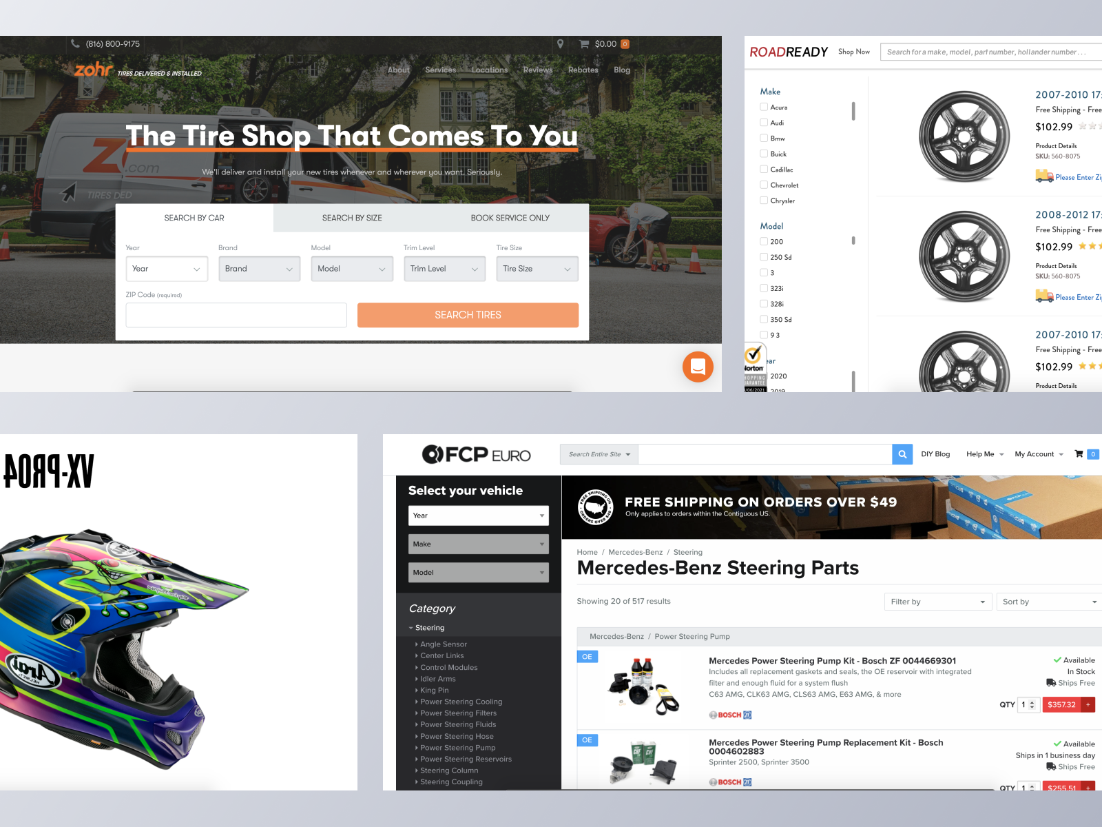 Automotive ecommerce websites using Spree Commerce