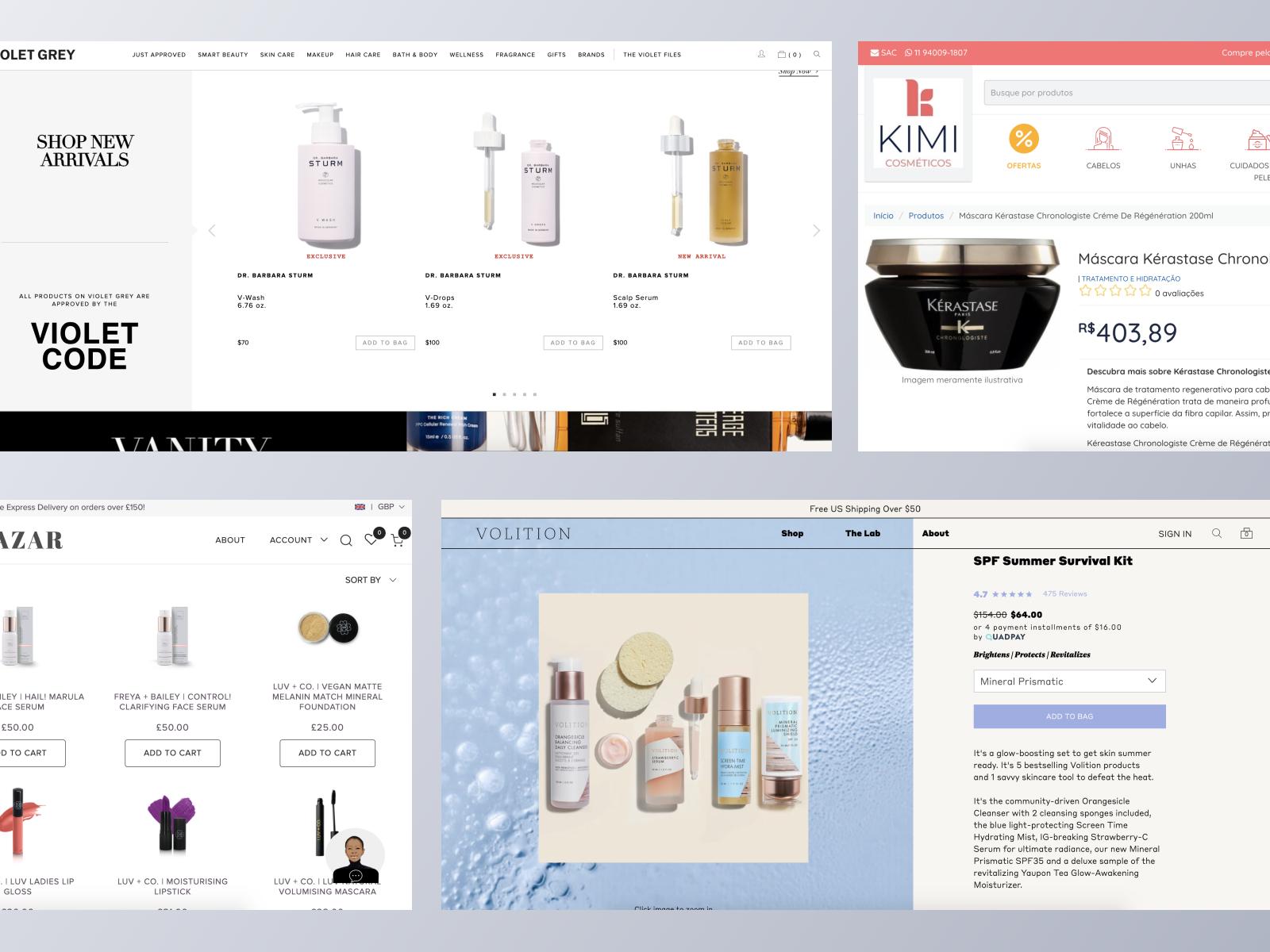 Beauty ecommerce websites using Spree Commerce
