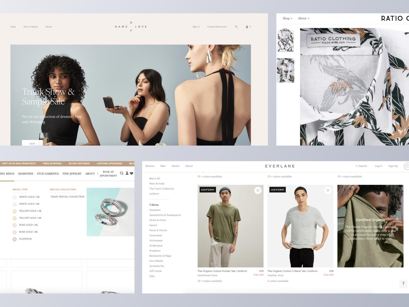 Fashion ecommerce websites using Spree Commerce