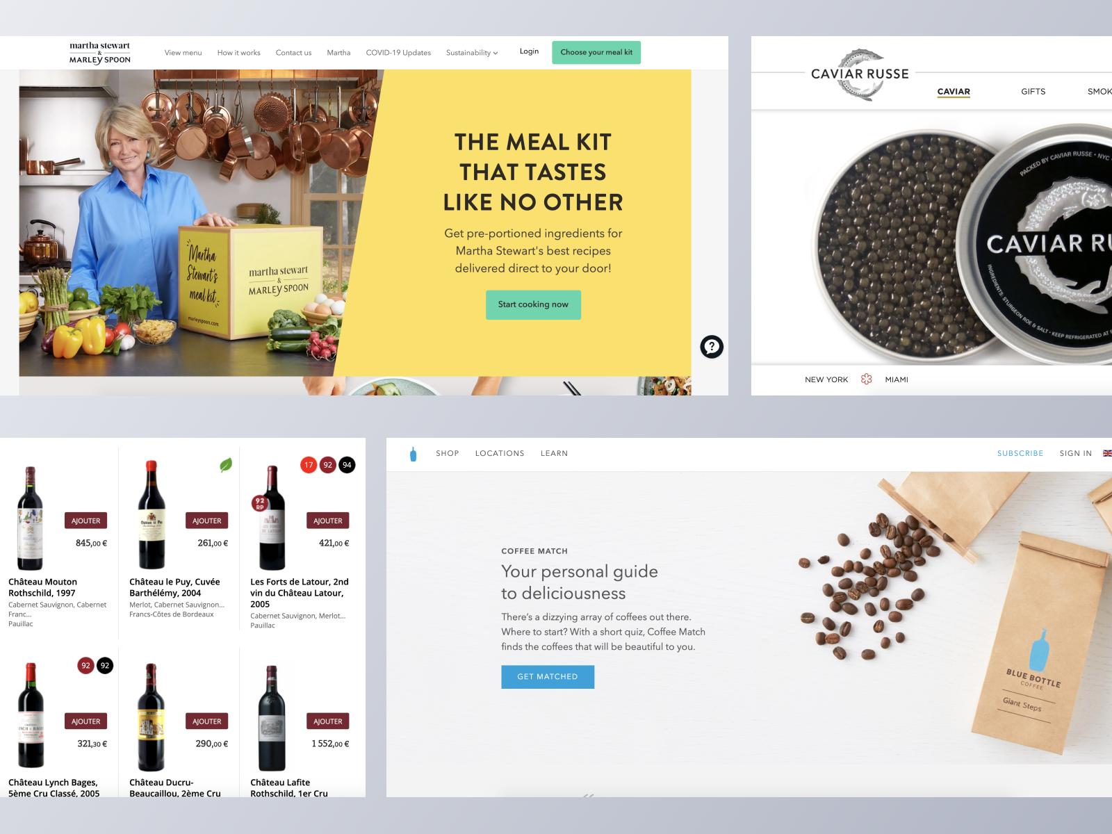 Food & Drink ecommerce websites using Spree Commerce