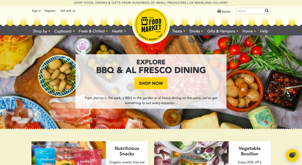 thefoodmarket is a marketplace using spree commerce