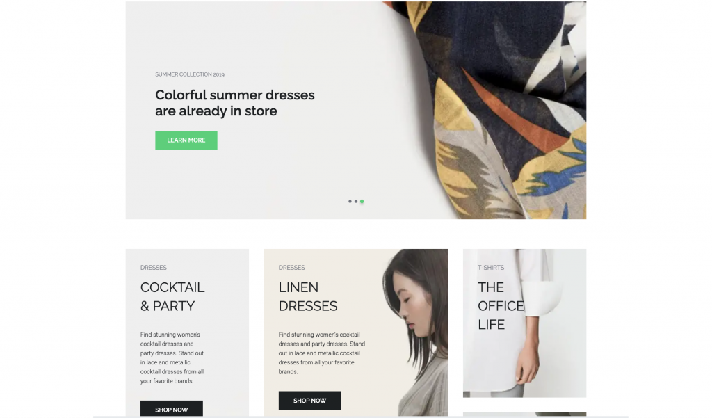 vue storefront and spree home page